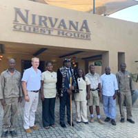 King Tchiffi Zie from Ivory Coast visits Nirvana Guest House